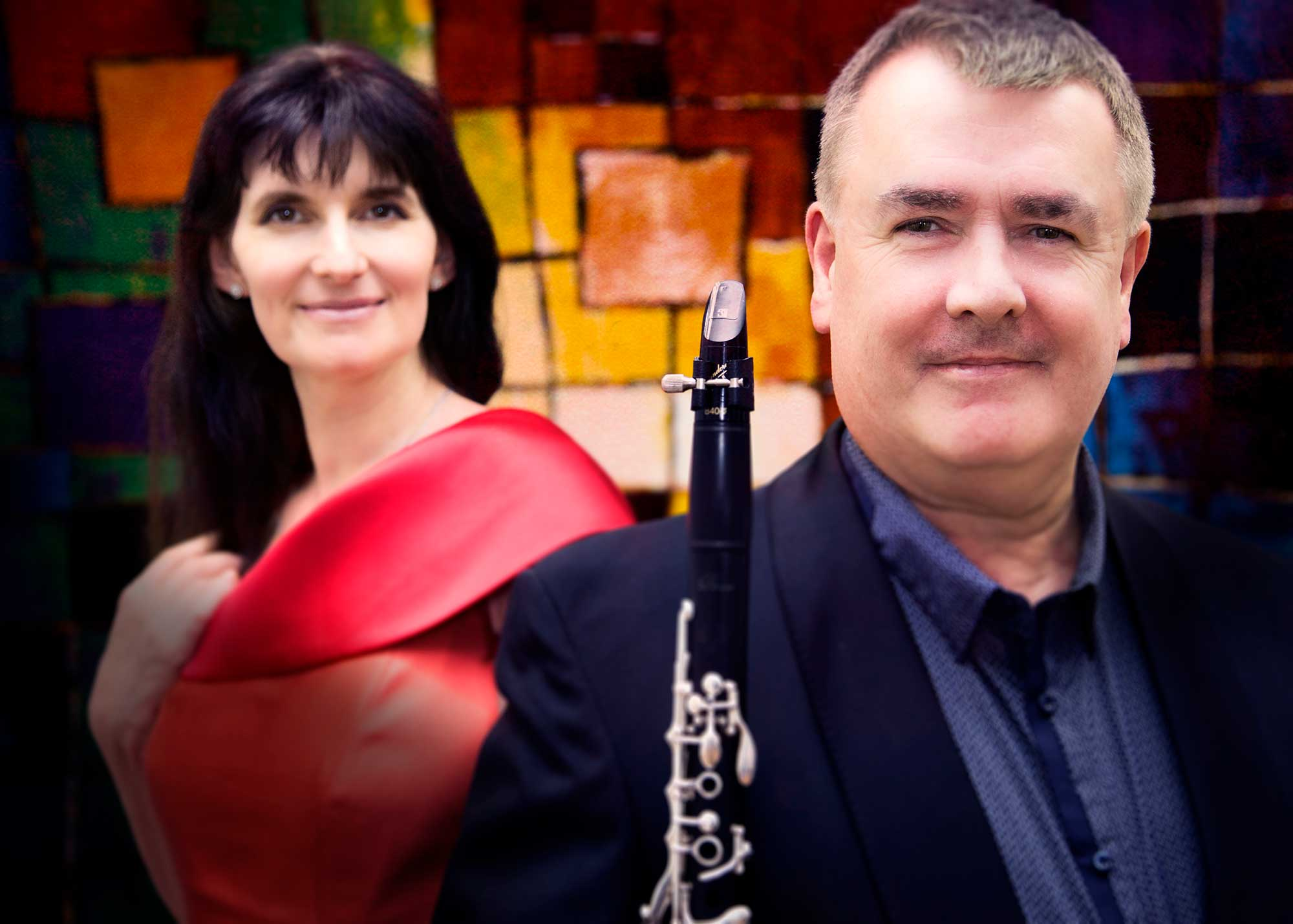 John Finucane clarinet and Elisaveta Blumina piano – Irish Holidays CD (Photo by Frances Marshall)